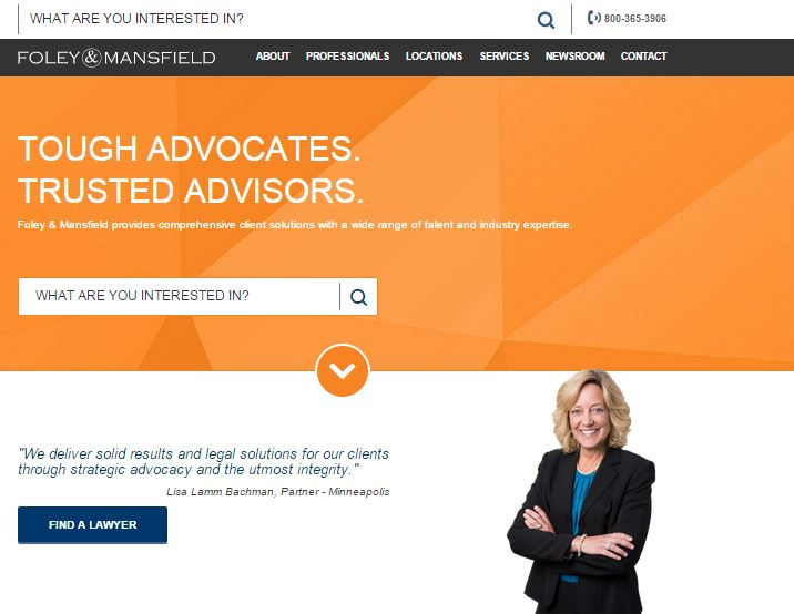 Foley & Mansfield - Redesign for a National Law Firm image